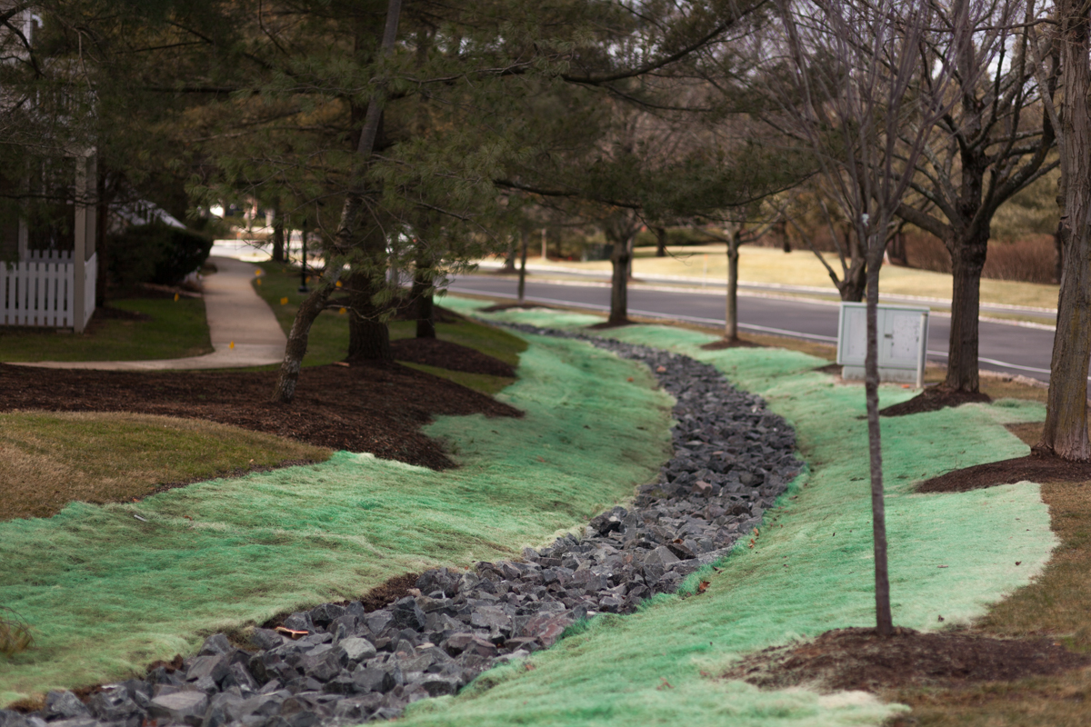 how to create a drainage swale