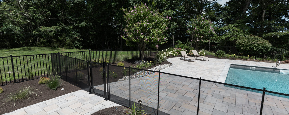 Backyard Remodel With Safety Fence By Design Landscapes